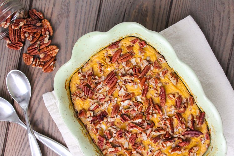 Pecan Pumpkin Breakfast Bake