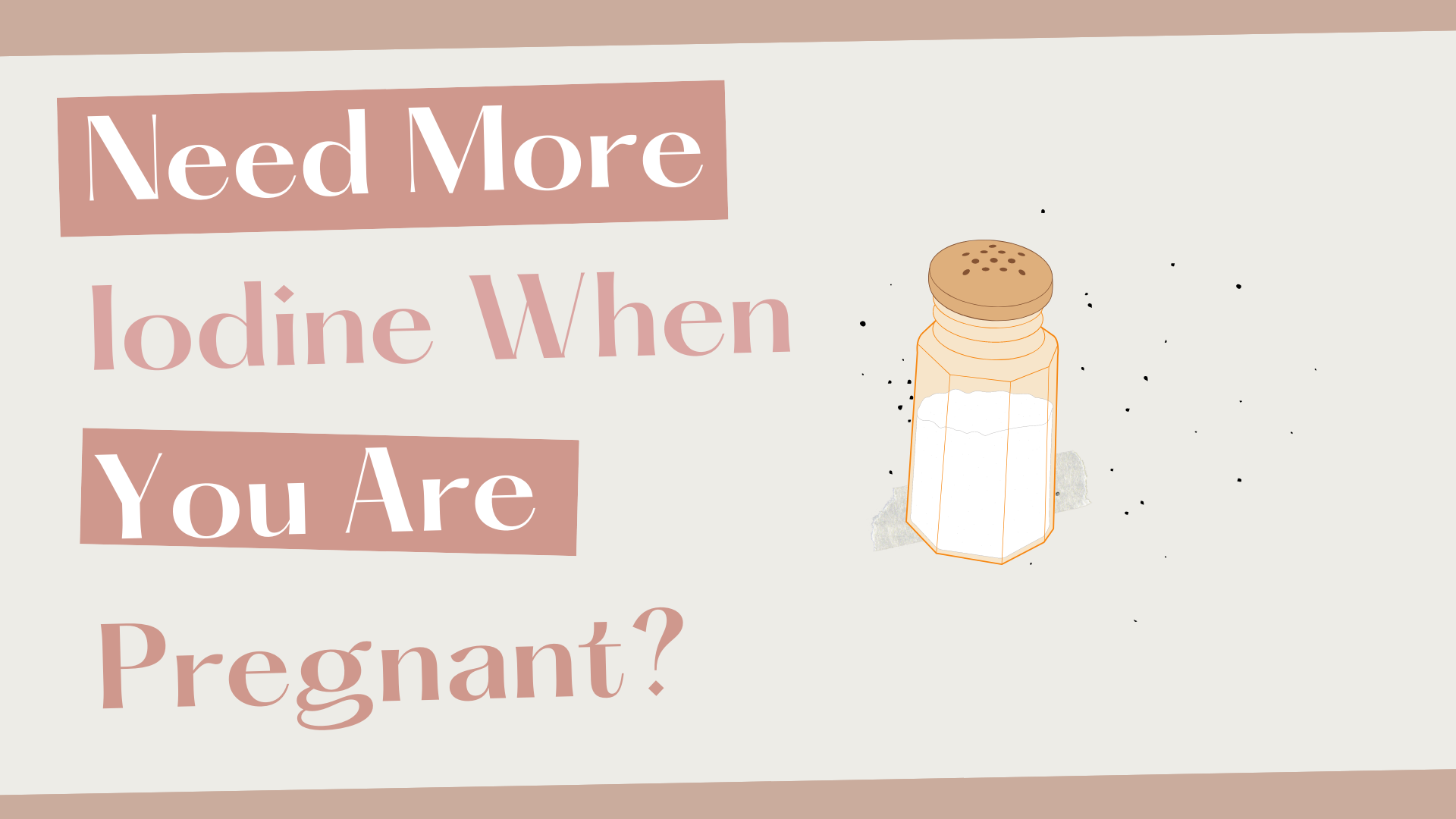 Need More Iodine When You Are Pregnant?