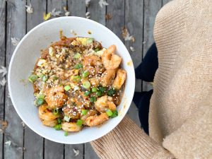 Shrimp Fried Cauliflower Bowl